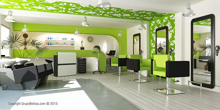 Dise o de locales comerciales3d arquitectura 3d - Interiores de peluquerias ...
